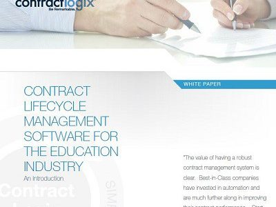 Contract Lifecycle Management for Education