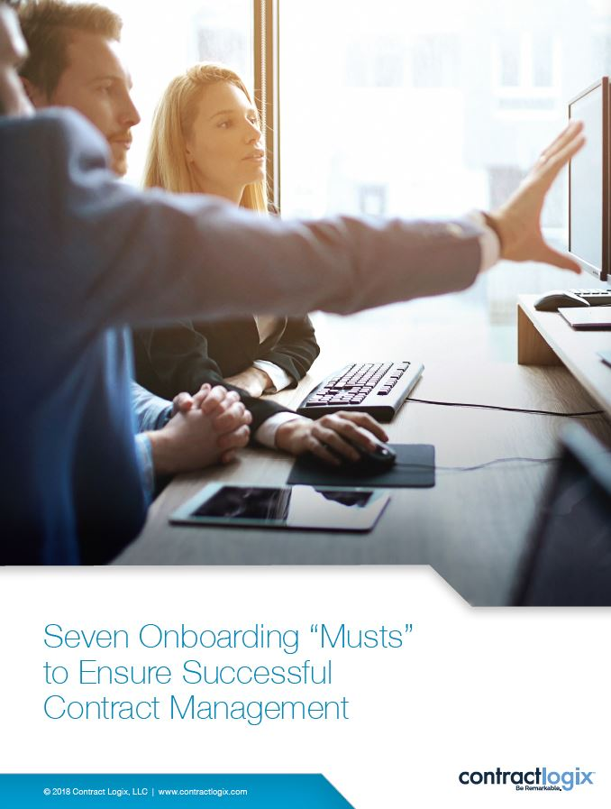 "Seven Onboarding ""Musts"" to Ensure Successful Contract Management"