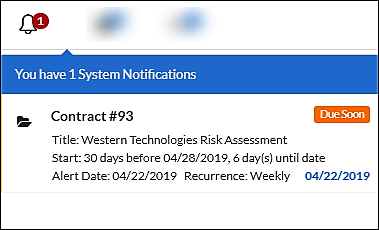 Alerts to avoid missed contract obligations