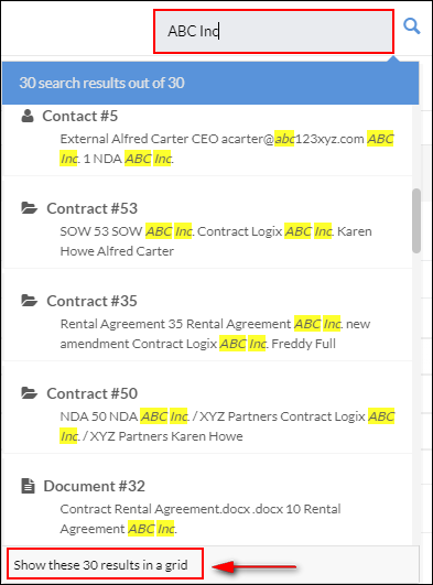 search contracts