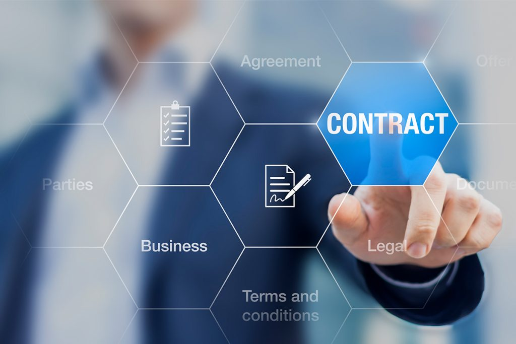 using contract data